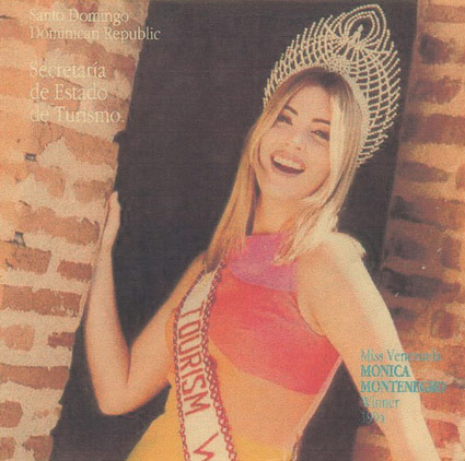 Monica Montenegro Prosperi Miss Tourism Winner 1994