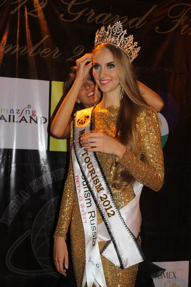 Tatyana Maksimova Miss Tourism Winner 2012