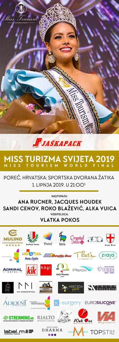 banner for miss tourism croatia final